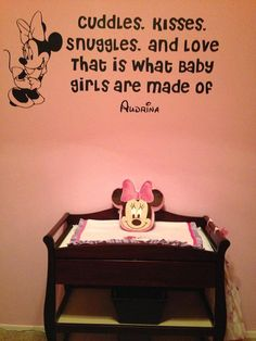Disney Minnie Mouse custom wall quote decal. Minnie is the QUEEN Bee! in this case, queen mouse lol