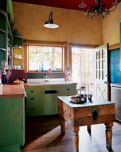 Character and Color: A Creative Remodel Transforms This Portland Home  Love the paint treatment with the glaze.