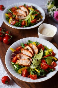 Best Salad Recipes, Kung Pao Chicken, Bento, Cobb Salad, Food And Drink, Low Carb, Lunch, Cooking, Breakfast