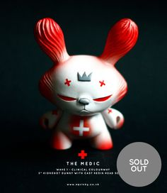 "Image of The Medic - Custom 3"" Resin head Dunny"