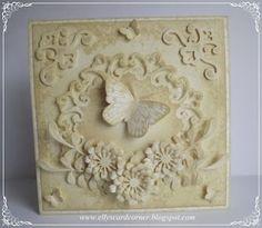 Elly's Card Corner: Butterfly in Antique Linen