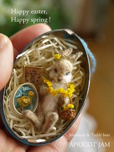Easter Bunny Dollhouse Miniatures - Dolls Miniatures Z Happy Easter, Easter Bunny, Easter Eggs, Walnut Shell, Minis, Shell Crafts, Vintage Easter, Miniture Things, Miniature Dolls
