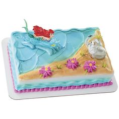ariel cake | Little Mermaid Ariel and Scuttle Cake Kit (3 pcs.), FREE shipping ...