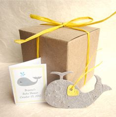 Baby Shower Whale Favors - Plantable Flower Seed Paper