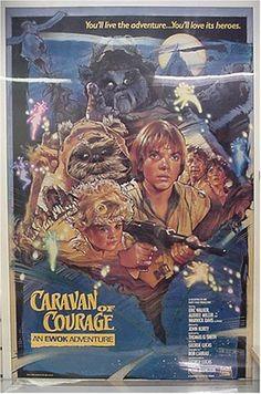 Star Wars Caravan of Courage The Ewok Adventure Original Poster 27x40 @ niftywarehouse.com #NiftyWarehouse #Geek #Products #StarWars #Movies #Film