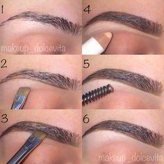 Eyebrow tutorial using Anastasia's dipbrow in chocolate