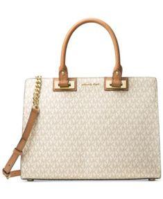 28f7bb376348 Michael Kors Signature Quinn Large Satchel & Reviews - Handbags &  Accessories - Macy's