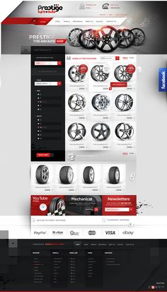 prestige tyre and auto - shop design  Agency: Creativehead.info, Artist: Hubert Paderski (webdesigner1921) Facebook profile: www.facebook.com/creativehead.info   Date realization work: 2014 -------------------------------- It is prohibited to copy or use in any form this project. Design protected by copyright. It is prohibaited to copy pages, graphic, components and code.