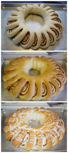 Cinnamon Wreath Bread - my mom made these, but they were called Swedish Tea Rings: