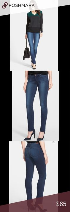"Paige Paige skyline straight, An elongated inseam accentuates the long, streamlined profile of straight-leg jeans cut from supersoft stretch denim. Whiskering and hand sanding nicely enhance the blue wash. 33"" inseam; 13"" leg opening; 8 1/2"" front rise; 13 1/2"" back rise (size 28) Zip fly with button closure. Five-pocket style. 50% rayon, 28% cotton, 21% polyester, 1% spandex. Machine wash cold By Paige Denim; made in the USA of imported fabric. t.b.d. Paige Jeans Jeans Straight Leg"