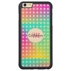 Fun, funky on trend psychedelic rainbow spot design tech accessory Don't forget to customize it with a name or monogram at no extra cost.