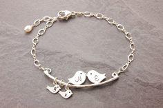 Mom Bracelet 1-8 kids initial bracelet mother by MegusAttic