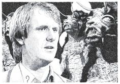Peter Davison played the Doctor from Featured here are monsters from the story 'Frontios.' Doctor Five and the Tractators Colin Baker, Fifth Doctor, Peter Davison, Australian Boys, Classic Doctor Who, Doctor Who Art, Through Time And Space, Torchwood, Fantastic Art