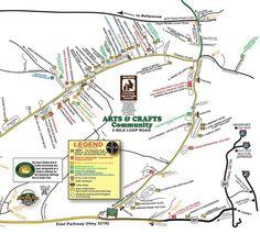 Gatlinburg Arts And Crafts Loop Map