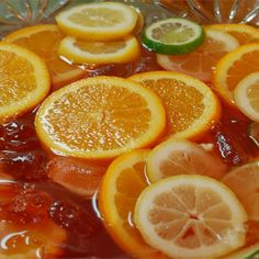 "Sparkling Punch I ""I made this punch for a friend's baby shower and it was a huge hit. It's refreshing, not too sweet and looks great with the fruit."""