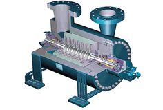 Центробежный компрессор с вертикальным разьемом корпуса