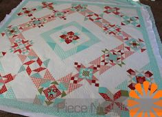 Piece N Quilt: Block of the Month - Lisa's Version  - Machine Quilting by Natalia Bonner  of Piece N Quilt.