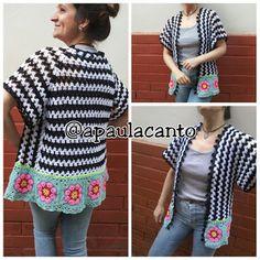 Crochet Granny, Knit Crochet, Granny Squares, Ravelry, African Flowers, Crochet Jacket, Shawl, Vest, Boho