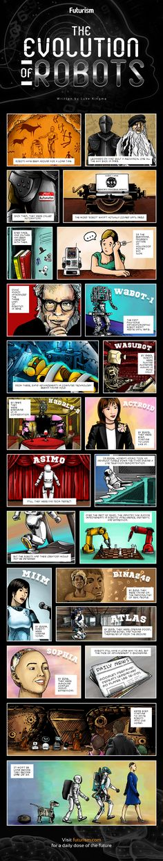 The Evolution of Robots [Comic] — The 'uncanny valley' refers to humanity's inherent distrust of robots that look like us. After decades of painfully slow progress, we are finally starting to experience it firsthand. Are we ready for it?  — https://futurism.com/images/the-evolution-of-robots-comic/