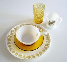 Vintage Place Setting - Mix and Match Dish Set - Gift for Man - Mid Century