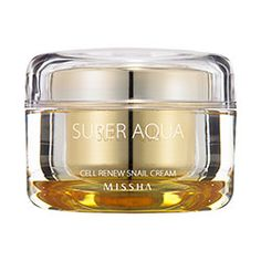"Love this whole line - it is amazing!  Missha - Super Aqua Cell Renew Snail Cream (Limited/Special Set) #misshaus - the whole ""snail"" thing sounds rather disgusting, but it smells wonderful, feels fabulous and works so well!"