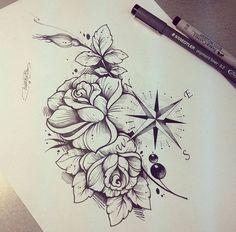 Tattoo Frauen Oberschenkel Kompass Ideas For 2019 - Hair♥ Nails♥ Beauty. Tattoo Frauen Oberschenkel Kompass Ideas For 2019 - Hair♥ Nails♥ Beauty♥ Tattoos♥ Piercings♥ - Tattoo Girls, Sexy Tattoos For Girls, Girl Tattoos, Tattoos For Women, Tatoos, Dope Tattoos, Body Art Tattoos, Small Tattoos, Sleeve Tattoos