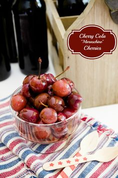 Homemade Cherry Cola Maraschino Cherries | Learn how to make maraschino cherries with this fun copycat recipe! They make for a great Valentine's Day dessert!
