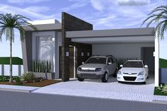 Planta de casa com ambientes integrados #fachadasmodernassobrado