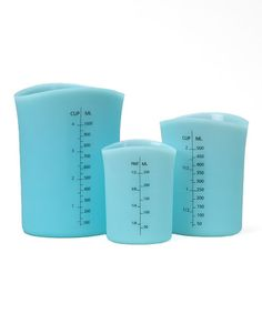 Take a look at this Blue Silicone Measuring Cup Set by Norpro on #zulily today!