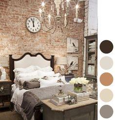 Love the exposed brick - Brick wall shabby chic bedroom Dream Bedroom, Home Bedroom, Bedroom Decor, Brick Bedroom, Master Bedroom, Bedroom Ideas, Pretty Bedroom, Bedroom Styles, Bedroom Rustic