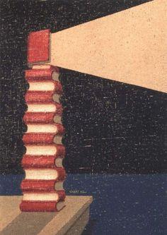 Books, beacons of wisdom / Los libros, faros de la sabiduría (autor desconocido)