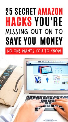 Did you know there are so many Amazon hacks to save you money fast and even make you cash?   The Practical Saver   Learn 25 secret tips and tricks no one wants you to know and how to find the best deals fr a better shopping experience. Learn how to save money shopping on Amazon with these best Amazon shopping hacks. You'll kick yourself for not knowing sooner! #shoppinghacks #onlineshopping #savemoney #frugal Saving Money Quotes, Money Saving Challenge, Money Saving Tips, Money Tips, Money Hacks, Save Money On Groceries, Ways To Save Money, Amazon Hacks, Money Fast