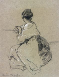 Camille Joseph-Étienne Roqueplan   1803-1855   Seated Woman Seen from the Back   The Morgan Library & Museum
