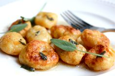 Butternut Squash and Ricotta Gnocchi--fried gnocchi