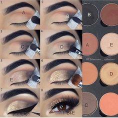 Eyeshadow tutorial – Glitz and Glamour Makeup Eyeshadow tutorial Eyeshadow tutorial Makeup 101, Makeup Inspo, Makeup Hacks, Makeup Brushes, Beauty Makeup, Hair Makeup, Eye Brushes, Makeup Geek, Makeup Tutorials
