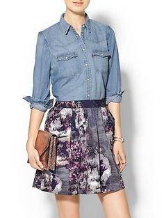 Levi's Tailored Western Shirt and Floral Skirt