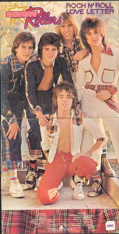 Bay City Rollers  I was so in love with this band especially Les McKeown, even had my own BCR outfit!