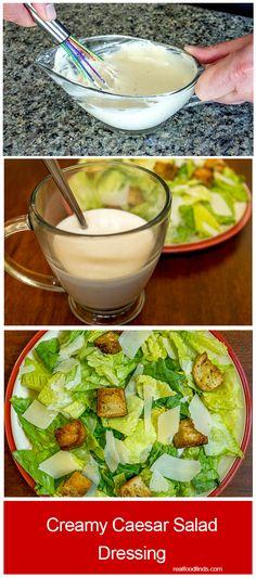 Creamy Caesar Salad Dressing - RealFoodFinds.com
