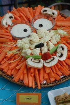 Cute circus themed veggie tray?
