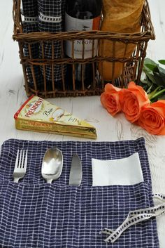 Me and my shadow: How to make fabric cutlery rolls - perfect for picnics and BBQs