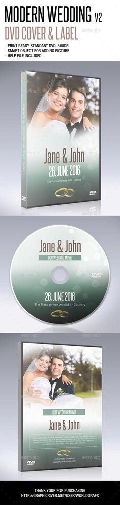 Modern Wedding DVD Cover Template PSD. Download here: http://graphicriver.net/item/modern-wedding-dvd-v2/14665388?ref=ksioks
