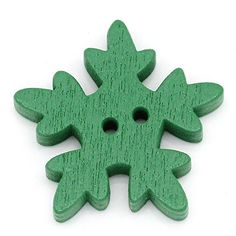 HOUSWEETY 200pcs Wood Sewing Christmas Gift Buttons Flower Pattern Scrapbooking Green 25mm x 24mm >>> Quickly view this special product, click the image : Valentine Gifts