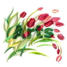 Quilling: Tulips in the wind