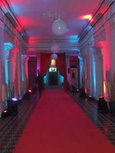 Red and Blue up-lighting at a previous Partridge Events event