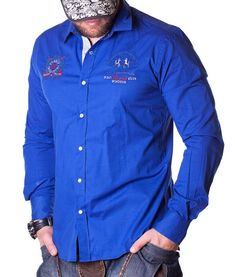 La Martina Guards Polo Club Shirt - Blue Color: blue Lined collar and placket La Martina branded buttons La Martina logo embroidery on the left chest side. La Martina Polo, Blue Long Sleeve Shirt, Club Shirts, Polo Club, Polo Shirt, Shirt Dress, Designer Clothing, Mens Tops, Formal