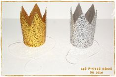 couronnespailletées3 Lolo, Candle Holders, Candles, Diy, Manualidades, Making A Bow, Crowns, Flat Cakes, January