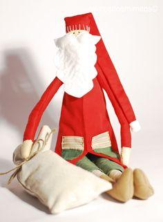 navidad, christmas, xmas, nadal, papa noel, noël, barba, gordinflón, rojo, fieltro, tela, muñeco, niños