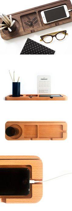 Platform 3 - Wooden Desk Organiser / MadeFromGoodDeeds