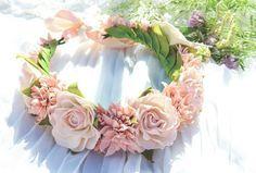 фоамиран, мастер класс, роза, нежность, светло розовый, розовый, цветок, флористика, венок, пастель, масляная пастель, фом, мастер класс фоамиранфоамиран, мастер класс