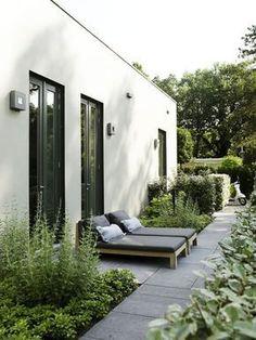Modern side garden #contemporaryart #gardendesign